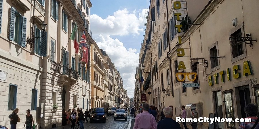 Via del Babuino in Rome