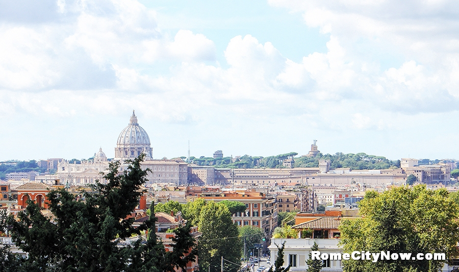 Panoramic View from Orange Gardens on Aventine hill
