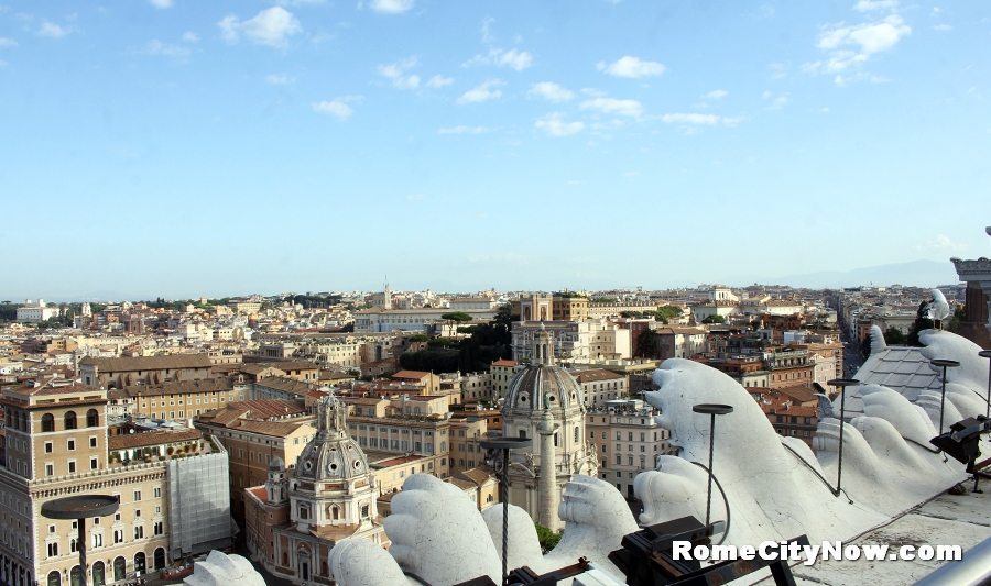 Panoramic view from Piazza Venezia